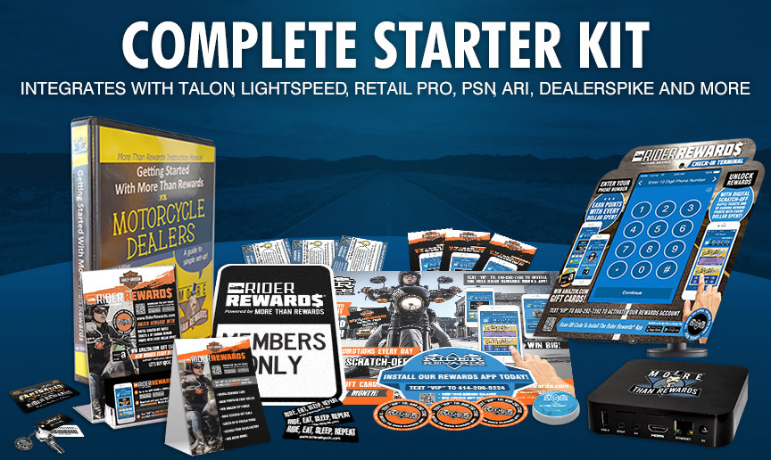 Rider Rewards Complete Started Kit starting at $299 per month
