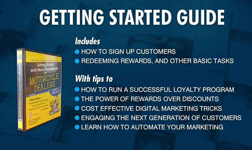 Getting Started Guide - Includes: Guides made specifically for cashiers and managers; With tips to help you get started and run a smooth rewards program